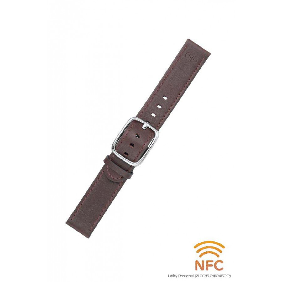 NFC Chocolate Leather Strap